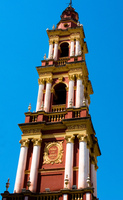 sky tower of the church Salta, Cafayate, Jujuy and Salta Provinces, Argentina, South America