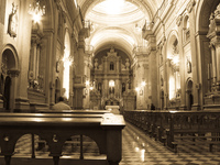 inside of san franciso church Salta, Cafayate, Jujuy and Salta Provinces, Argentina, South America