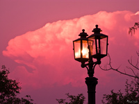 view--salta lamp post sunset Cafayate, Salta, Jujuy and Salta Provinces, Argentina, South America