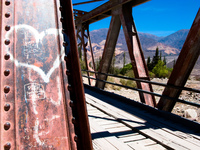 iron bridge Purmamarca, Tilcara, Jujuy and Salta Provinces, Argentina, South America
