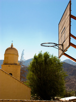 basketball church Tilcara, Jujuy and Salta Provinces, Argentina, South America