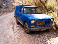 blue jesus jeep Tilcara, Jujuy and Salta Provinces, Argentina, South America