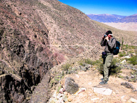 german hiker Tilcara, Jujuy and Salta Provinces, Argentina, South America