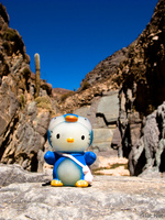 hello kitty in diablo valleg Tilcara, Jujuy and Salta Provinces, Argentina, South America