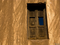 view--windows of huanted house Tilcara, Jujuy and Salta Provinces, Argentina, South America