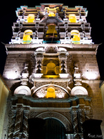 view--jesuit church at night Uyuni, Potosi, Potosi Department, Bolivia, South America