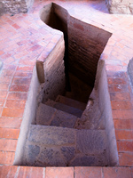 downward stairway from belfry Potosi, Potosi Department, Bolivia, South America