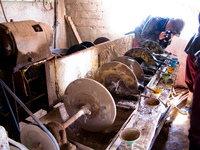 mineral extraction machine Potosi, Potosi Department, Bolivia, South America