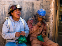 crying miner Potosi, Potosi Department, Bolivia, South America