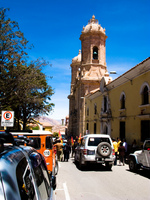 street arcoss potosi catedral Potosi, Sucre, Potosi Department, Santa Cruz Department, Bolivia, South America