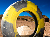 view--mountain in a tire San Antonio, Potosi Department, Bolivia, South America
