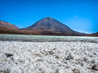 barium at laguna verde San Antonio, Potosi Department, Bolivia, South America