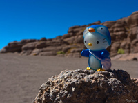 desert of siloli and penguin hello kitty Laguna Colorado, Potosi Department, Bolivia, South America