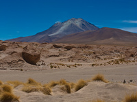 volcano ollague Laguna Colorado, Potosi Department, Bolivia, South America