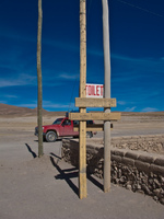 san juan toilet Laguna Colorado, Potosi Department, Bolivia, South America