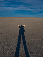 my shadow in salar de uyuni Laguna Colorado, Potosi Department, Bolivia, South America