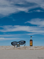 view--sunglass in salar de uyuni Salar de Uyuni, Potosi Department, Bolivia, South America