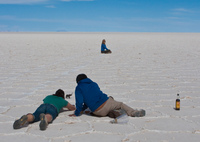 photographing in salar de uyuni Salar de Uyuni, Potosi Department, Bolivia, South America