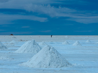 iodized salt processing plant in colchani Salar de Uyuni, Potosi Department, Bolivia, South America