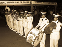 marching band Sucre, Santa Cruz Department, Bolivia, South America