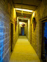 hotel--salt hotel hallway Laguna Colorado, Potosi Department, Bolivia, South America