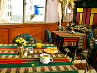 food--breakfast at jerusalem hotel Potosi, Potosi Department, Bolivia, South America