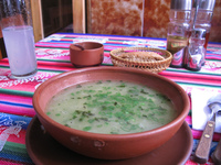food--vegetarian soup at el germin Sucre, Santa Cruz Department, Bolivia, South America