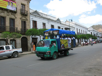 transport--dino truck Sucre, Santa Cruz Department, Bolivia, South America