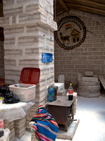 hotel--kitchen of salt hotel Salar de Uyuni, Potosi Department, Bolivia, South America