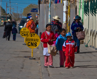 school kids in uyuni Uyuni, Potosi, Potosi Department, Bolivia, South America