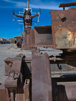 iron maiden and the railway relic Uyuni, Potosi, Potosi Department, Bolivia, South America