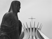 saint of cathedral of bras lia Brasilia, Goias (GO), Brazil, South America