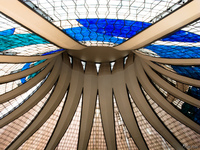 view--cathedral roof Brasilia, Goias (GO), Brazil, South America