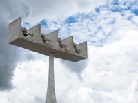 belfry of cathedral Brasilia, Goias (GO), Brazil, South America