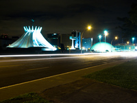 cathedral at night Brasilia, Goias (GO), Brazil, South America