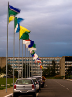flags of nationas Brasilia, Goias (GO), Brazil, South America