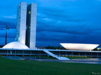 view--congresso national Brasilia, Goias (GO), Brazil, South America