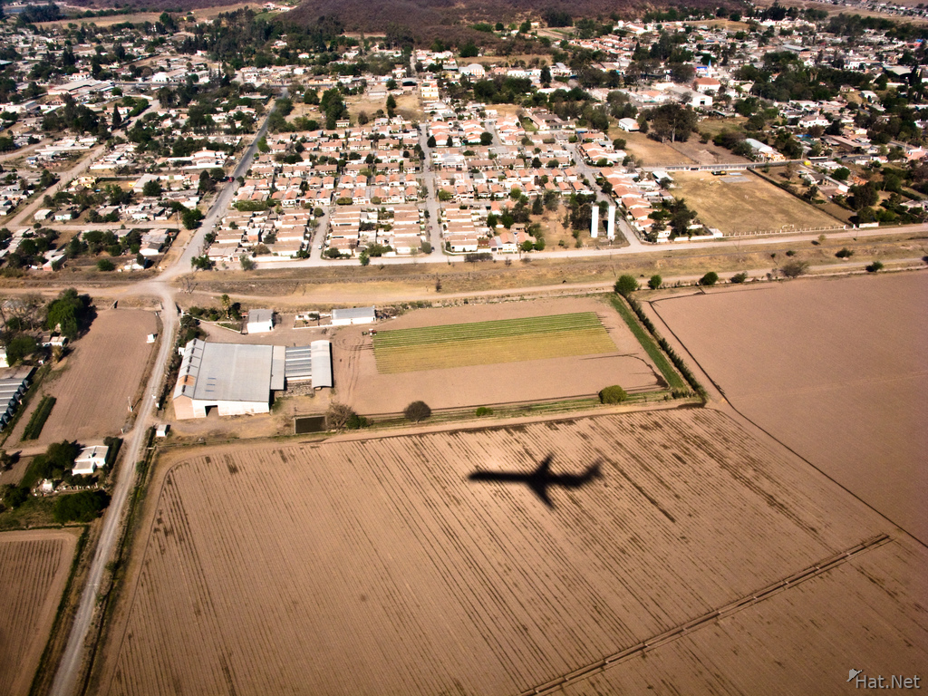 view--shadow of airplane near salta