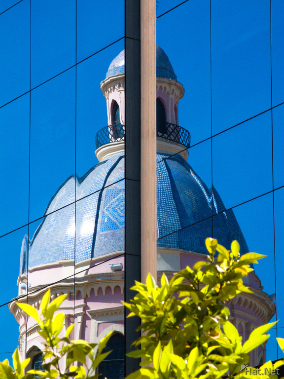 view--reflection of salta catedral