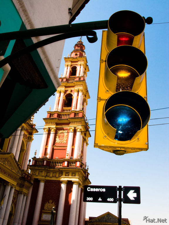 view--traffic light before the holy church