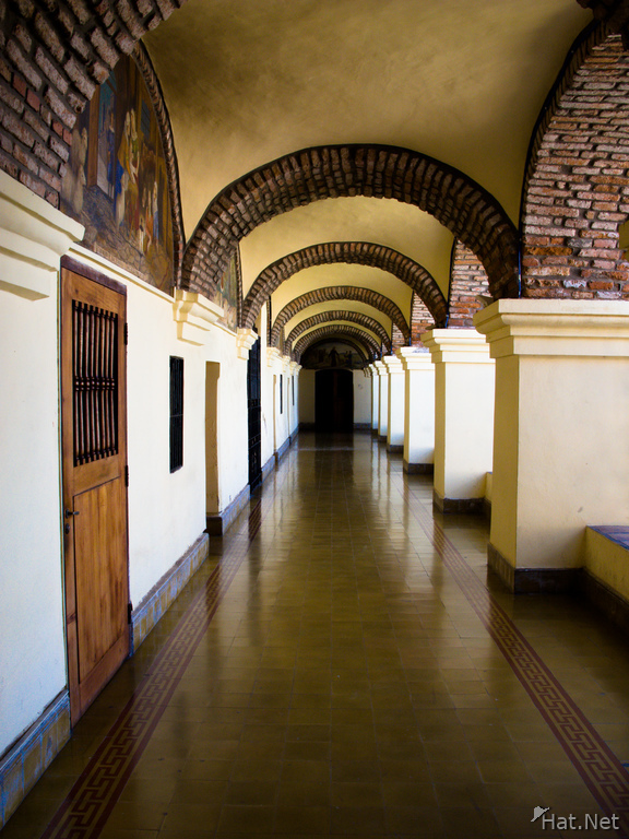 walkway in church