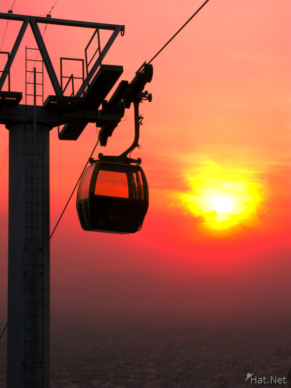 sunset cable car