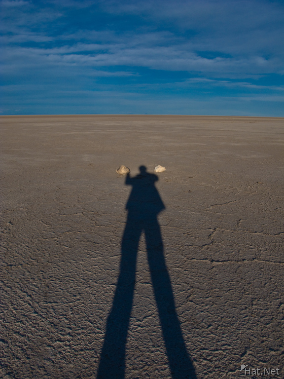 my shadow in salar de uyuni