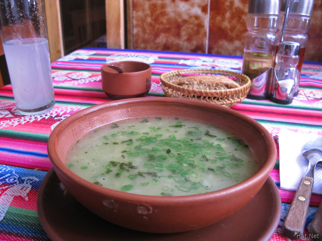 food--vegetarian soup at el germin
