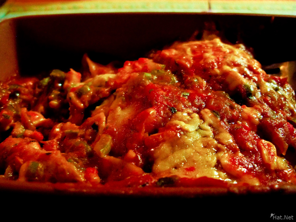 food--vegetarian lasagna