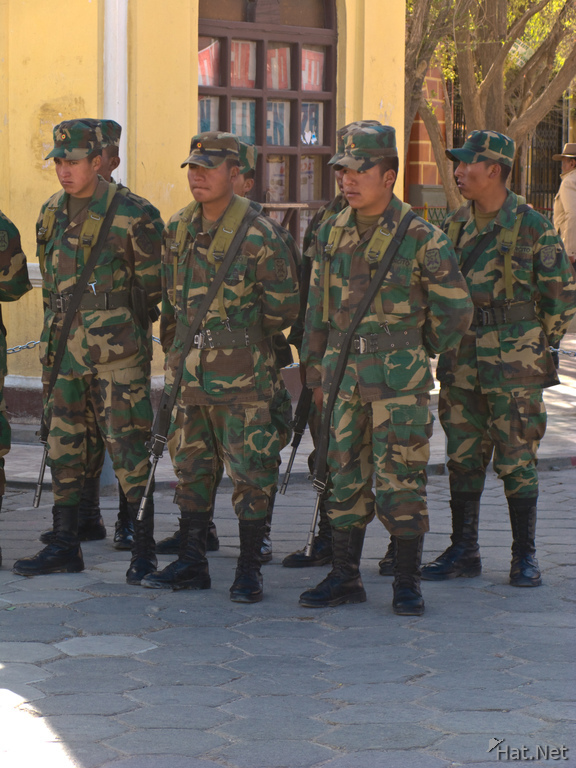 soldier parade in uyuni