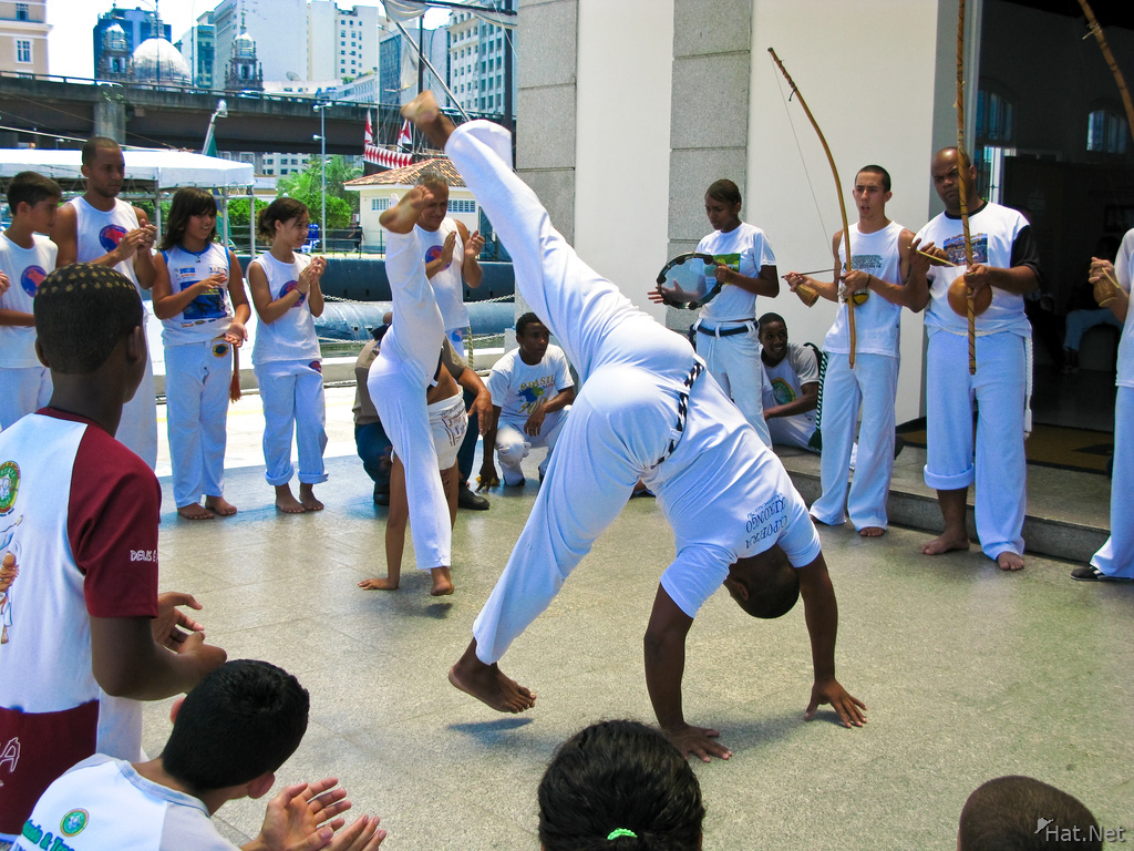 teaching capoeira