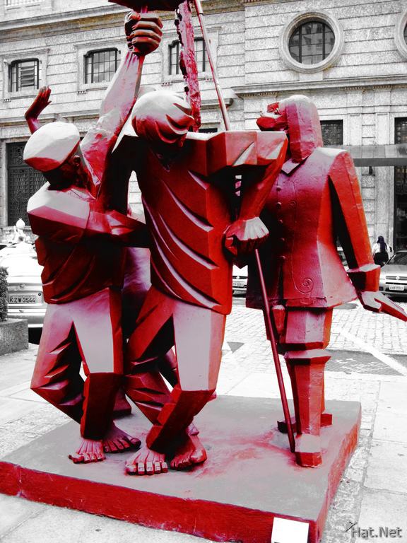 red body guards of centro cultural banco do brasil