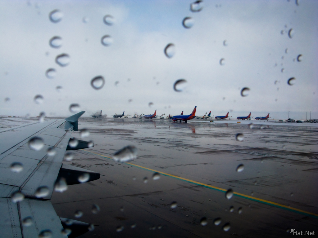 rain in denver airport