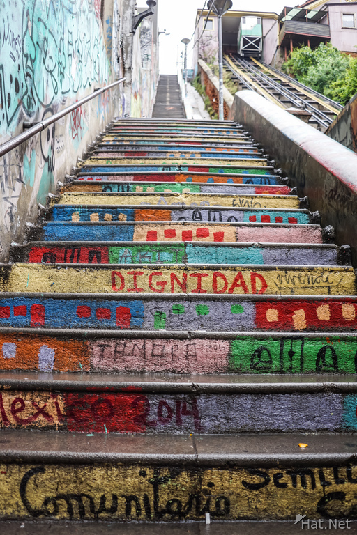 Colorful Stairs in Valparaiso